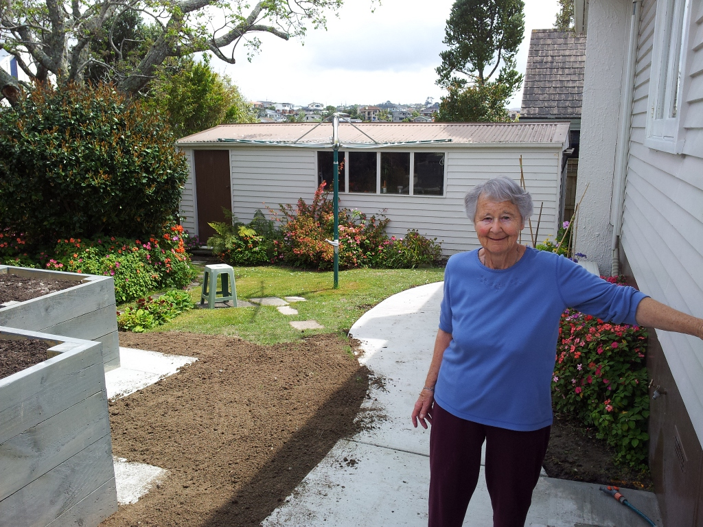 Mother's new vegie garden